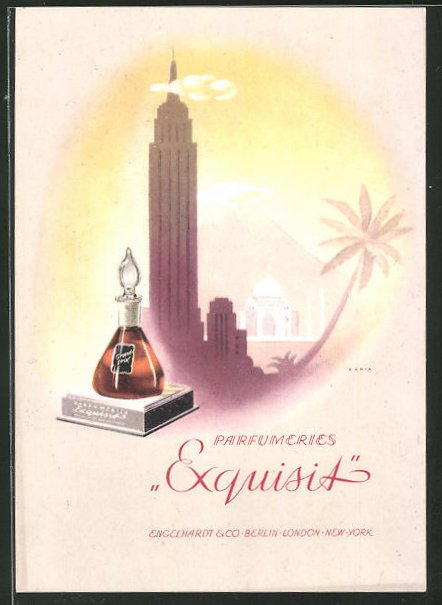 AK Reklame für Parfumeries