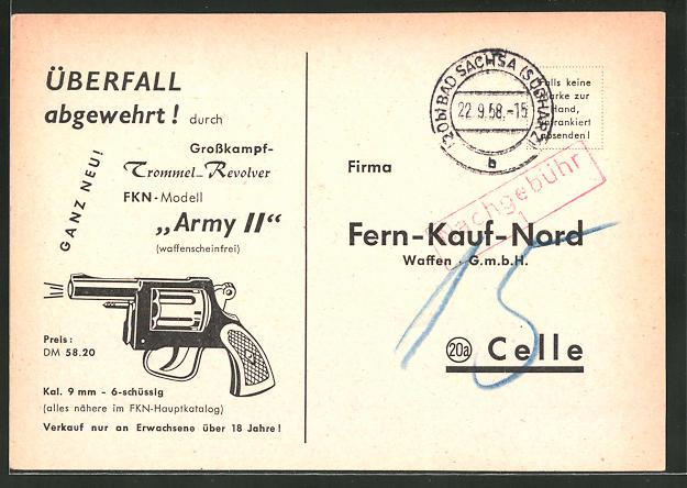 AK Celle, Waffen GmbH Fern-Kauf-Nord, Bestellkarte