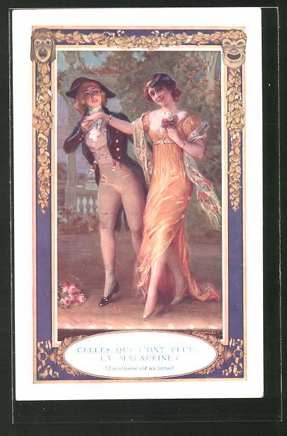 Künstler-AK Paris, Parfumerie Monpelas, 50 Faubourg Poissonnière, elegante Damen
