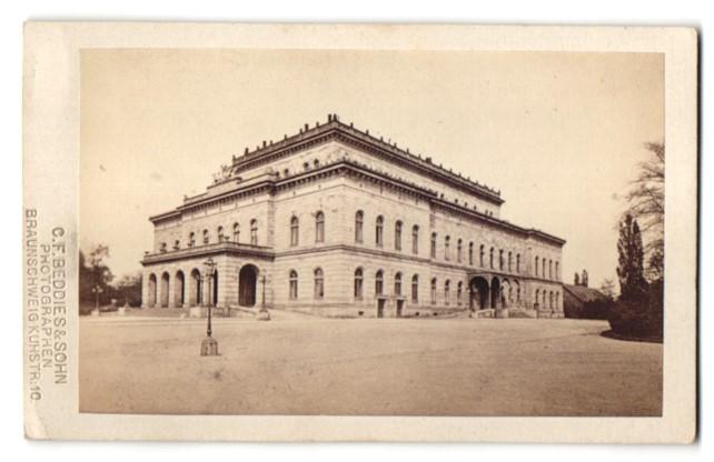 Fotografie C. F. Beddies & Sohn, Braunschweig, Ansicht Braunschweig, Theater