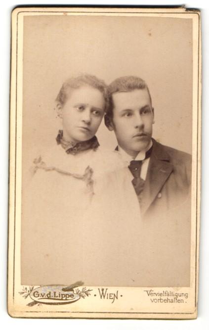 Fotografie G. v. d. Lippe, Wien, Portrait junges Paar
