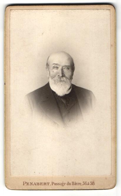 Fotografie Penabert, Paris, Portrait betagter Herr mit Vollbart