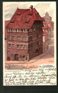 Künstler-AK Karl Mutter: Nürnberg, Blick auf das Duererhaus