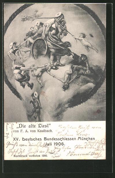 Künstler-AK München, XV. Deutsches Bundesschiessen 1906,