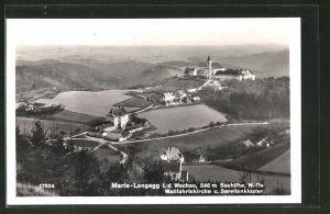 AK Maria-Langegg i. d. Wachau, Blick zur Wallfahrtskirche & Servitenkloster