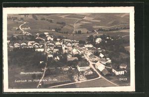 AK Lembach i. Mühlkreis, Fliegeraufnahme des Dorfes