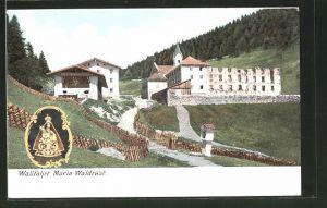 AK Mühlbach, das Wallfahrtskloster Maria Waldrast