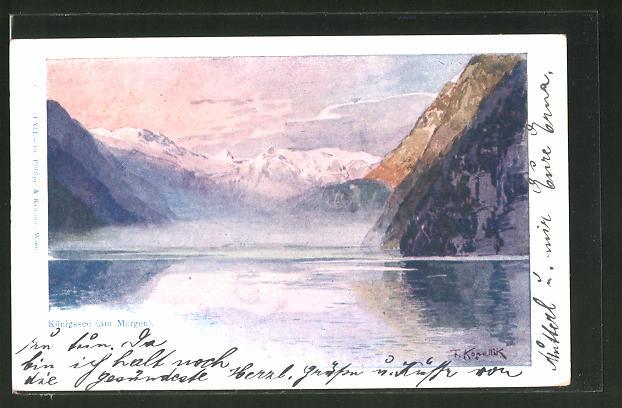 Künstler-AK Franz Kopallik: Königssee (am Morgen)