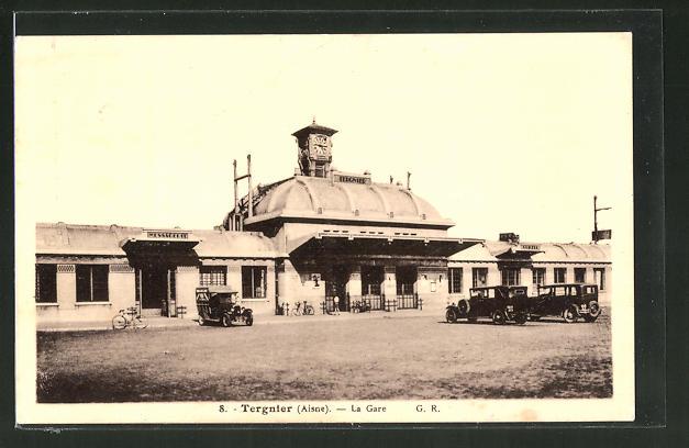 AK Regnier, La Gare, Motiv vom Bahnhof