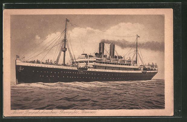 AK Passagierschiff Bremen auf hoher See
