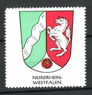 Reklamemarke Wappen von Nordrhein-Westfalen