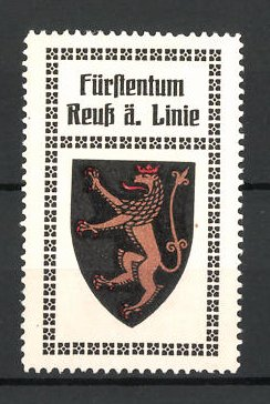 Reklamemarke Wappen vom Fürstentum Reuss älterer Linie