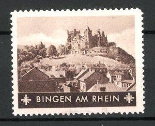 Reklamemarke Bingen am Rhein, Blick auf das Schloss