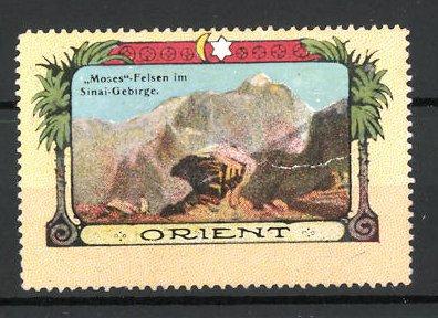 Reklamemarke Serie: Orient, Moses-Felsen im Sinai-Gebirge