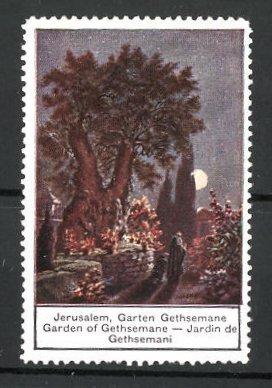 Reklamemarke Serie: Orient, Jerusalem, Garen Gethsemane