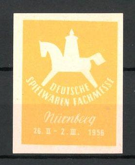 Reklamemarke Nürnberg, deutsche Spielwarenmesse 1956, Messelogo