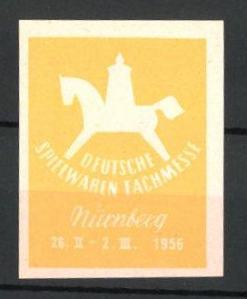 Reklamemarke Nürnberg, deutsche Spielwaren-Fachmesse 1956, Messelogo