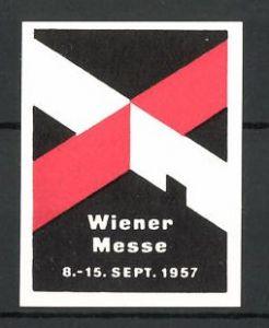 Reklamemarke Wien, Wiener Messe 1957, Messelogo