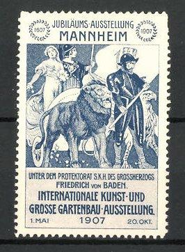 Gartenbau Mannheim reklamemarke mannheim internationale kunst und grosse gartenbau