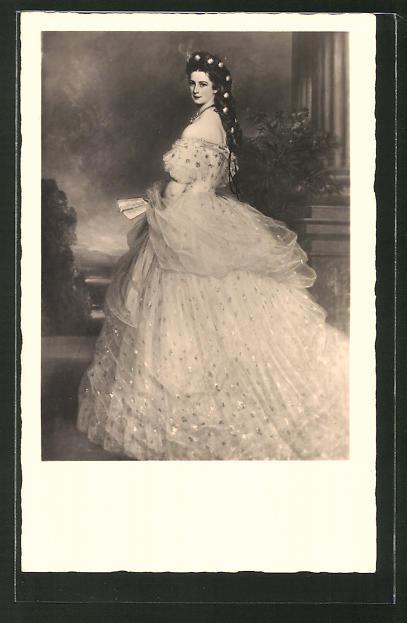 AK Kaiserin Elisabeth, nach dem Gemälde von Winterhalter