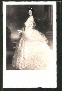 AK Kaiserin Elisabeth, nach dem Gemälde von Winterhalter, Sissi