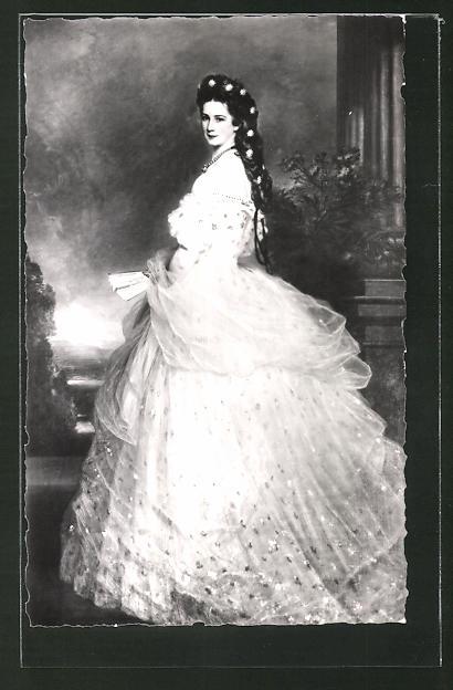 AK Elisabeth von Österreich, Sissi, nach dem Gemälde von Winterhalter