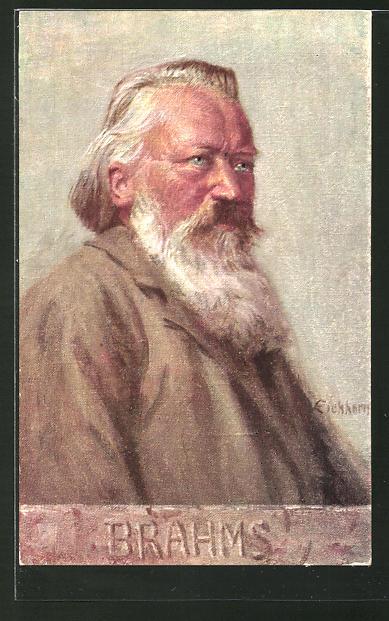 Künstler-AK Johannes Brahms, deutscher Komponist, Pianist und Dirigent
