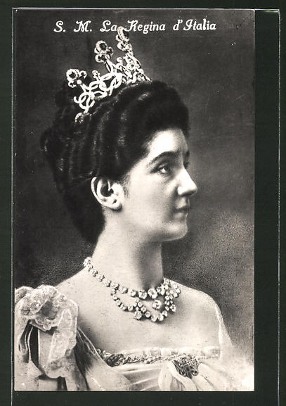 AK La Regina d'Italia, Porträt der italienischen Königin