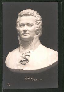 AK Mozart, Büste von Aurelio Micheli