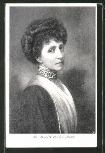 AK Halbportrait Erzherzogin Maria Theresia von Österreich