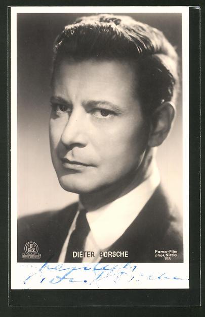 AK Schauspieler Dieter Borsche im Anzug