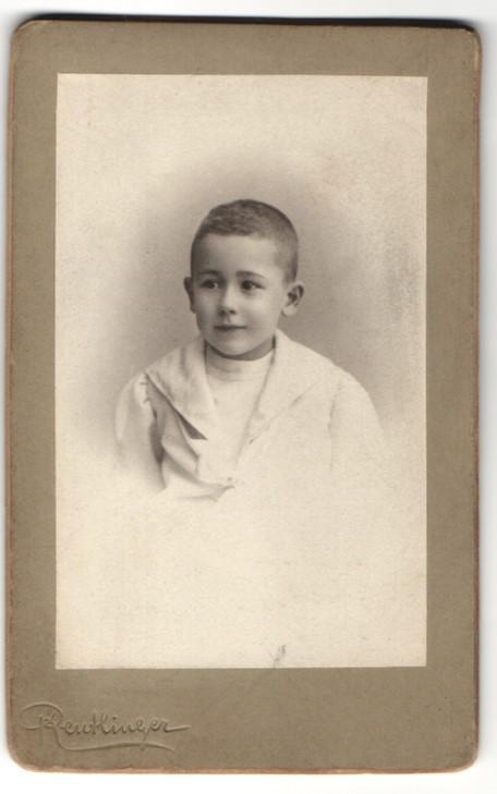 Fotografie Reutlinger, Paris, Portrait kleiner Knabe