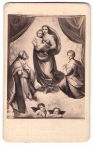 Fotografie F. & O. Brockmann's Nachfolger, Dresden, Gemälde von Raphael, Madonna di San Sisto