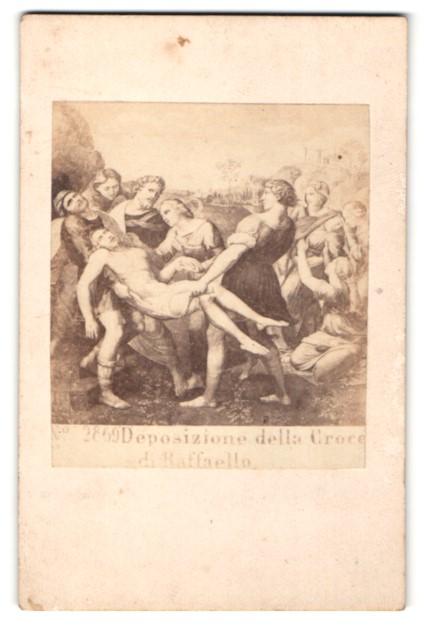 Fotografie Sommer & Behles, Rome, Naples, Gemälde von Raffaello, Deposizione della Croce
