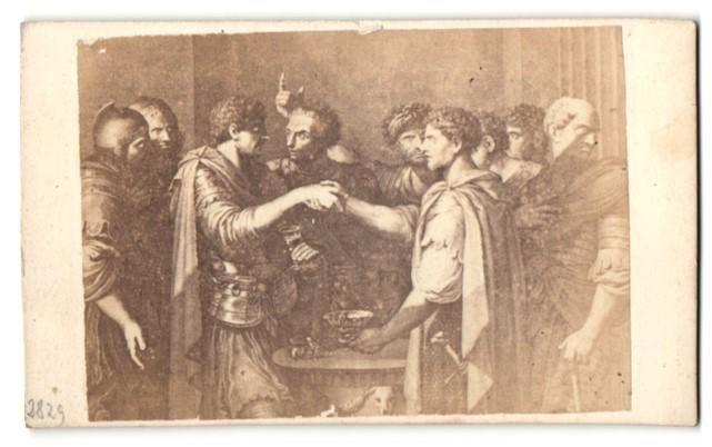 Fotografie Sommer & Behles, Rome, Naples, Gemälde von unbek. Künstler, Römische Männergruppe