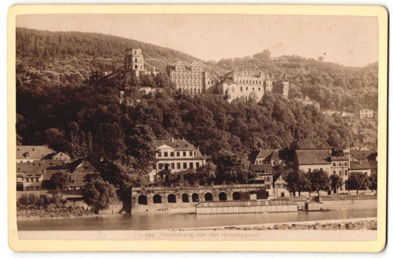 Fotografie Heidelberg fotografie unbekannter fotograf ansicht heidelberg blick der