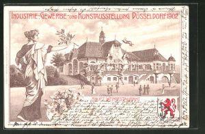 Lithographie Düsseldorf, Industrie-, Gewerbe- und Kunstausstellung 1902, Haupt-Weinrestaurant