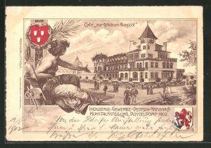 Lithographie Düsseldorf, Industrie-Gewerbe-Deutsch-Nationale Kunstausstellung 1902, Café