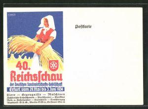 AK Erfurt, 40. Reichsschau der deutschen Landwirtschafts-Gesellschaft 1934