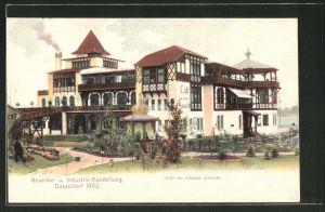 AK Düsseldorf, Gewerbe- & Industrie-Ausstellung 1902, Café zur schönen Aussicht
