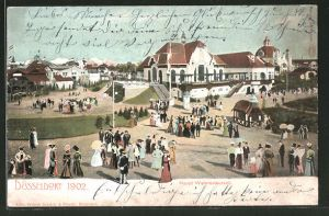 AK Düsseldorf, Industrie- & Gewerbe-Ausstellung 1902, Haupt Weinrestaurant