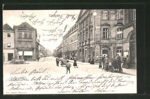 AK Bayreuth, Blick in die Richard Wagner-Strasse