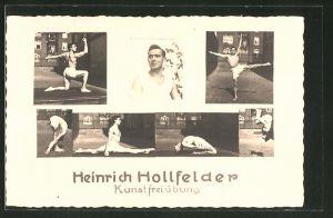 AK Athlet und Akrobat Heinrich Hollfelder bei Kunstfreiübungen
