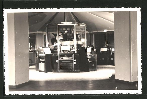 Foto-AK Ausstellung der Firma Radio-Lehmann