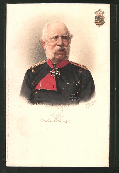 Künstler-AK Ermenegildo Antonio Donadini: König Albert von Sachsen in Uniform