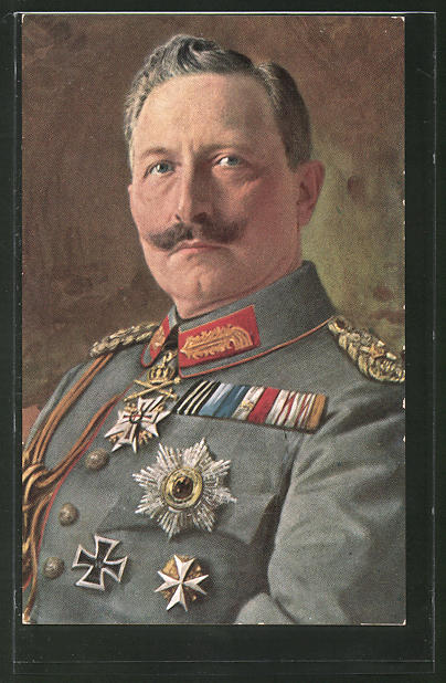 AK Kaiser Wilhelm II. in Uniform mit Orden