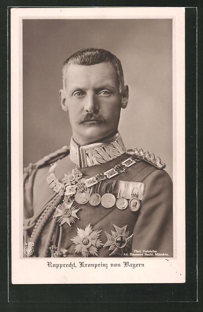 AK Kronprinz Rupprecht von Bayern in Uniform mit Orden