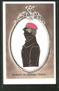 AK Fürst Otto von Bismarck als Göttinger Student