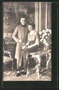 AK Prinz Ernst August Herzog von Braunschweig und seine Braut Prinzessin Viktoria Luise