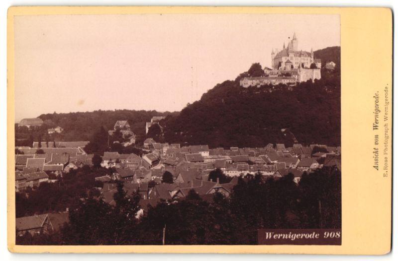 Fotografie E. Rose, Wernigerode, Ansicht Wernigerode, Totale